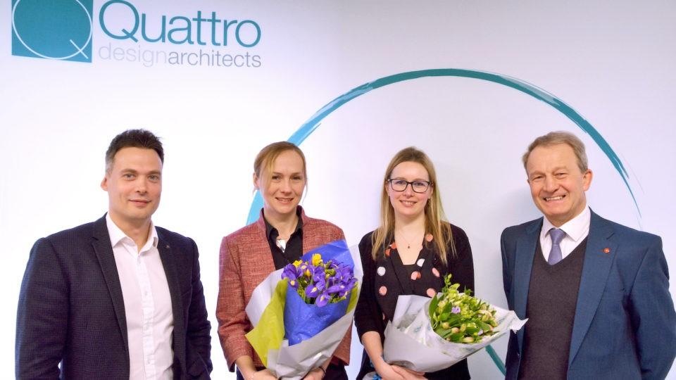 Quattro Design Architects Robert Walder, Claire Samuel, Andy Tansill