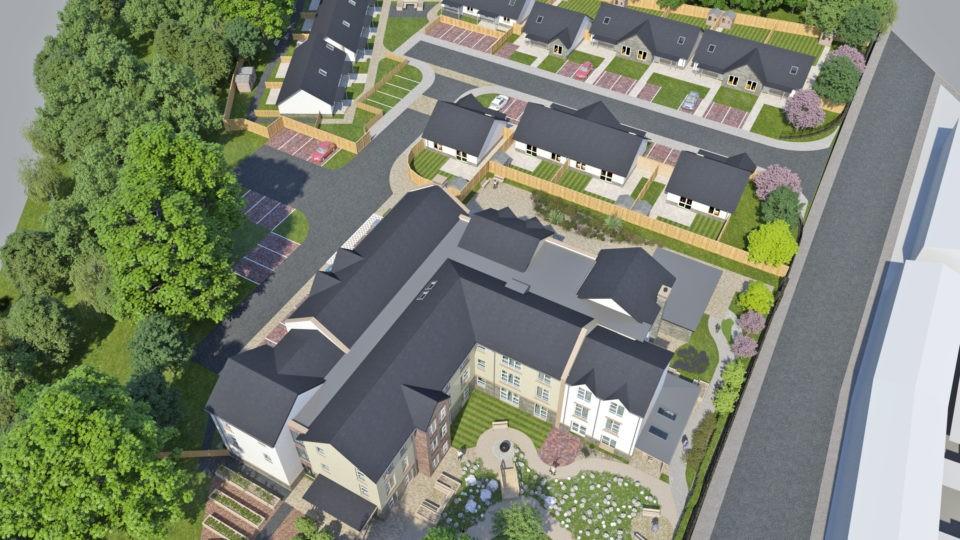 Maesteg Bridgend Aerial photo