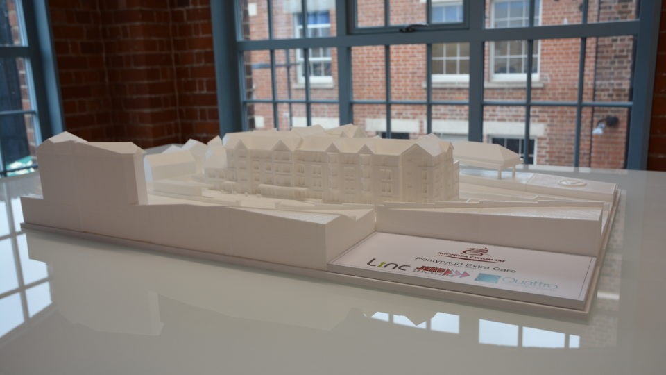 3d Printed Model Pontypridd Extra Care