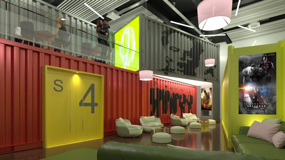 Container Cinema Interior