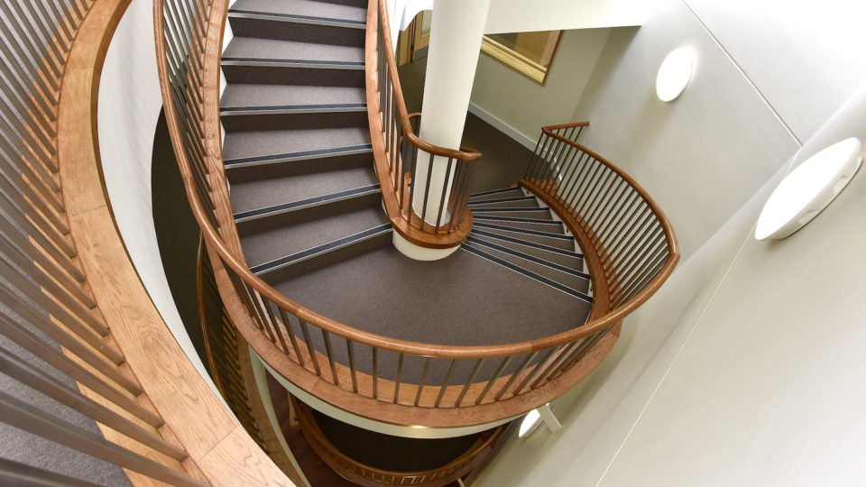stairs at Cheltenham Ladies' College, Bunwell Boarding House