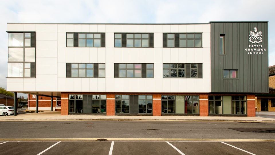 Education Secondary CIF Academies Pates sixth form Cheltenham building