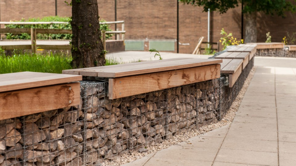 Churchill academy North Somerset landscaping