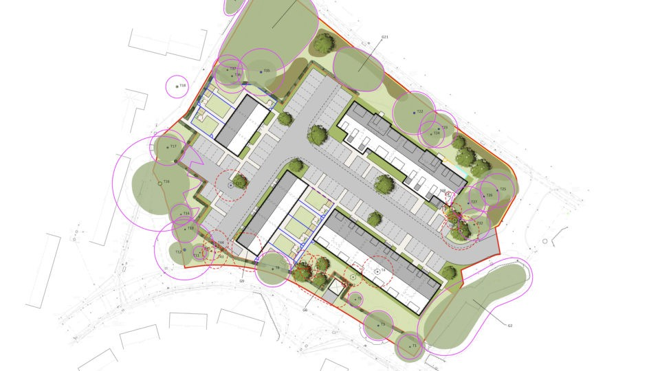 Affordable Housing Kennedy Way Yate, Site Map