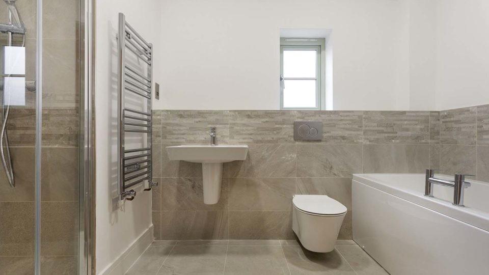 Residential housing bathroom