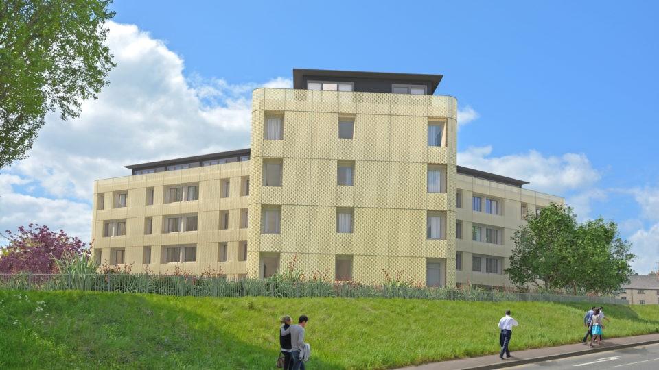Housing Change of Use Tricorn House Stroud CGI External 2
