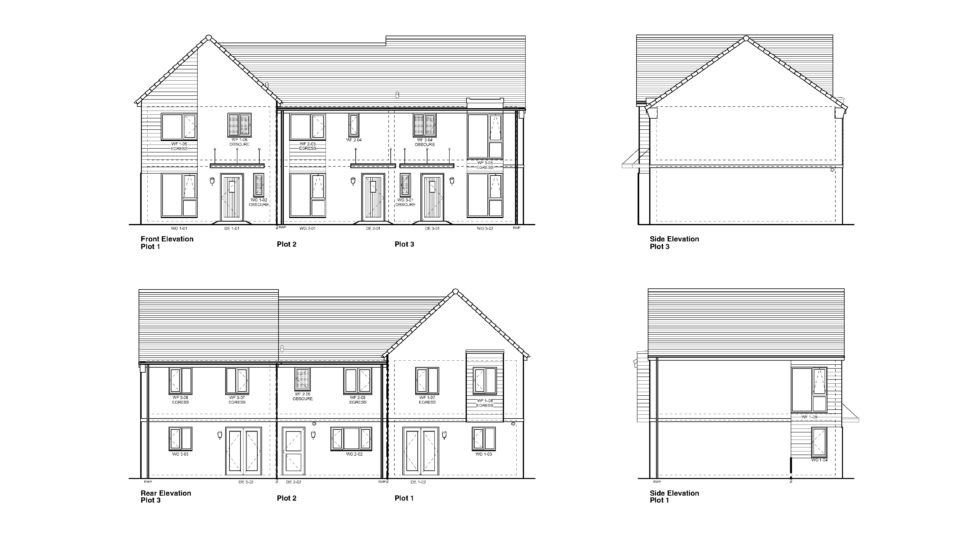 Design and Build Tynte Somerset Elevation drawings