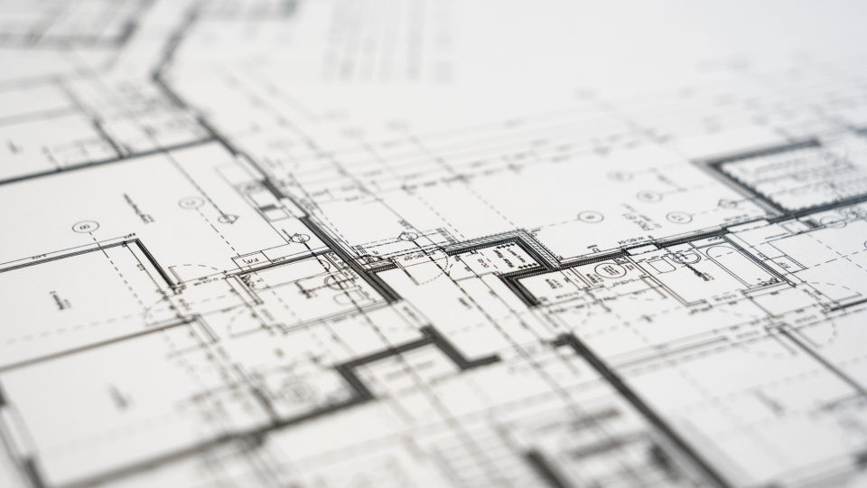 Printed Architectural Drawing