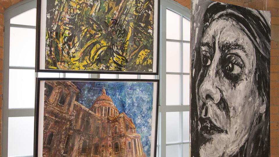 Quattro Lobby Gallery School Artwork Social Responsibility