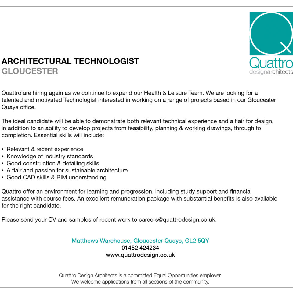 job description architectural technologist