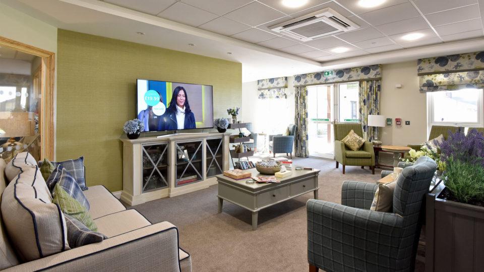 Tondu, Bridgend Care Home Lounge