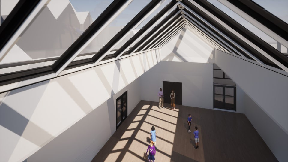 Christ Church Primary view of hall and roof area