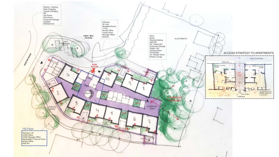Cleeve House, Gloucester - ALD Care edited site plan