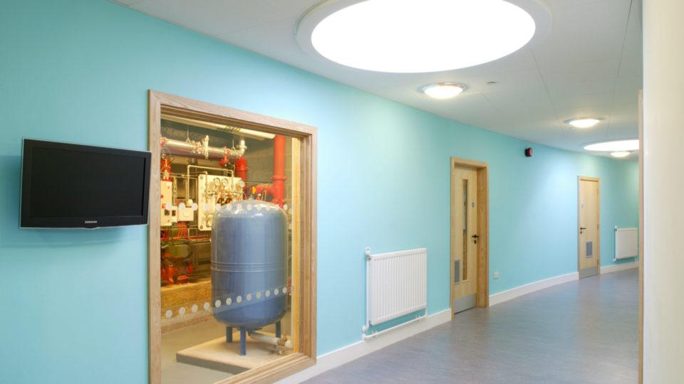 Stourport Primary School circular window letting in light