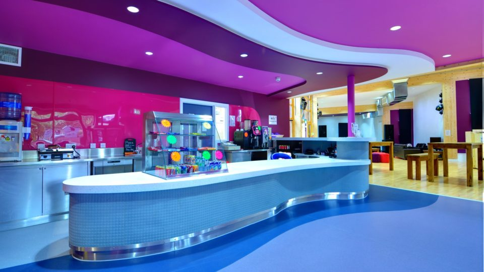 Yate youth cafe, interior colour scheme