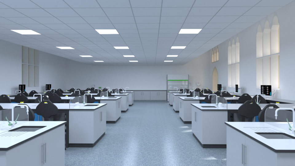 Interior, Biomedical Science Labs, University of Gloucester