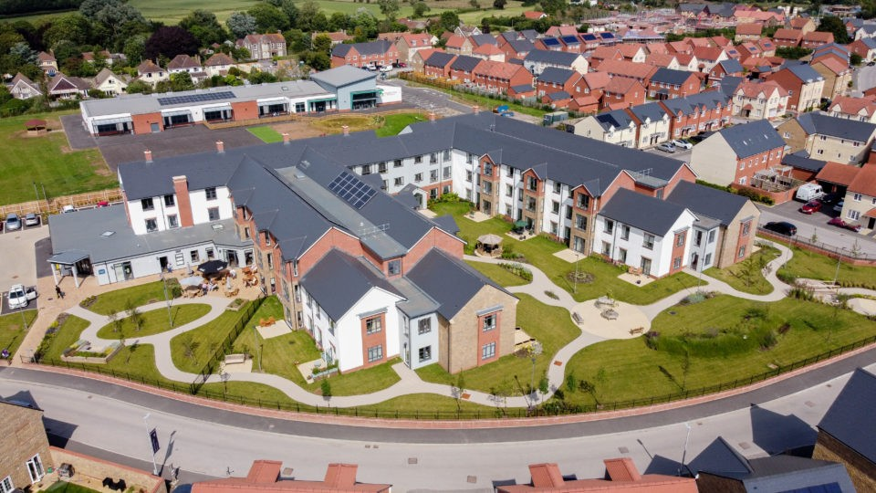 Arnolds Way, Yatton, Extra Care Home Aerial View