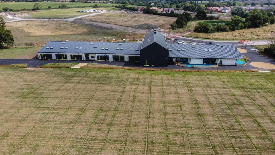 Great Oldbury Primary School view from drone